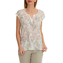 Buy Betty & Co. Cap Sleeved Print Top, Cream Online at johnlewis.com