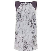Buy Mint Velvet Corrine Twist Back Tunic Top, Multi Online at johnlewis.com