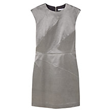 Buy Mango Metallic Shift Dress, Silver Online at johnlewis.com
