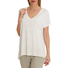Buy Betty & Co. Graphic Print Top, White Beige Online at johnlewis.com