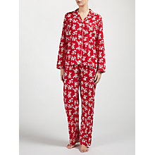 Buy John Lewis Cilla Floral Print Pyjama Set, Red/Ivory Online at johnlewis.com