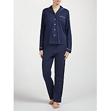 Buy John Lewis Thermal Pyjamas, Navy Online at johnlewis.com