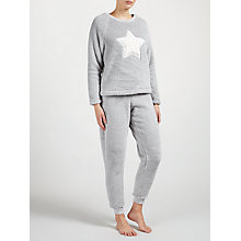 Buy John Lewis Novelty Star Pyjama Set, Grey Online at johnlewis.com