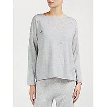 Buy John Lewis Star Embroidered Jumper, Grey Online at johnlewis.com