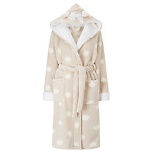 Buy John Lewis Novelty Owl Spot Robe, Beige/Ivory Online at johnlewis.com