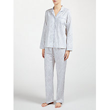 Buy John Lewis Damask Floral Print Pyjama Set, Ivory/Grey Online at johnlewis.com