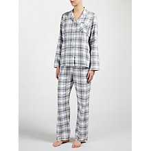 Buy John Lewis Check Pyjama Set, Grey Online at johnlewis.com