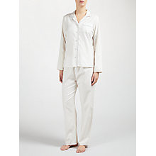 Buy John Lewis Tiny Star Print Pyjama Set, Ivory/Grey Online at johnlewis.com