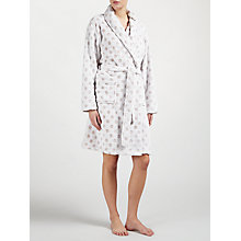 Buy John Lewis Embossed Spot Robe, Taupe Online at johnlewis.com