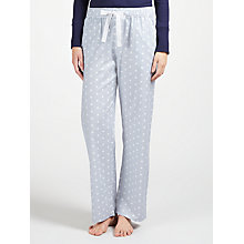 Buy John Lewis Spot Print Pyjama Bottoms, Grey/Ivory Online at johnlewis.com