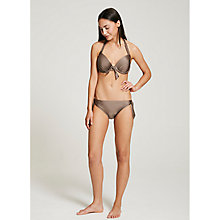 Buy Beach by Mint Velvet Tie Side Bikini Bottoms, Mocha Online at johnlewis.com