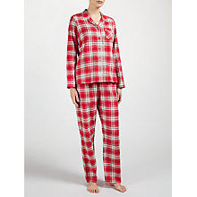 Buy John Lewis Check Pyjama Set, Red Online at johnlewis.com