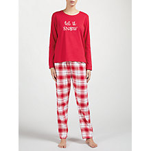 Buy John Lewis Let It Snow Pyjama Set, Red Online at johnlewis.com