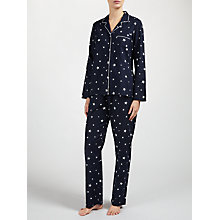 Buy John Lewis Esta Star Print Pyjama Set, Navy/Ivory Online at johnlewis.com