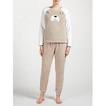 Buy John Lewis Dog Raglan Pyjama Set, Taupe/Multi Online at johnlewis.com