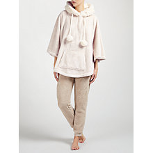 Buy John Lewis Hooded Faux Fur Trimmed Poncho, Taupe Online at johnlewis.com