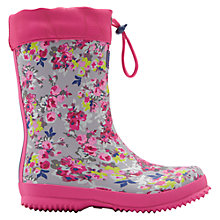 Buy Joules Girls' Floral Wellington Boots, Pink Online at johnlewis.com