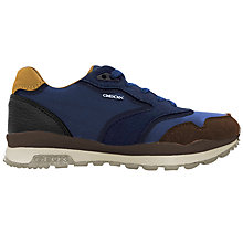Buy Geox Children's Riptape J Pavel Sports Shoes, Blue Online at johnlewis.com