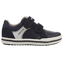 Buy Geox Children's Elvis Rip-Tape Trainers, Navy Online at johnlewis.com
