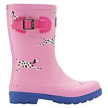 Buy Little Joule Children's Dalmatian Wellingtons Boots, Pink Online at johnlewis.com