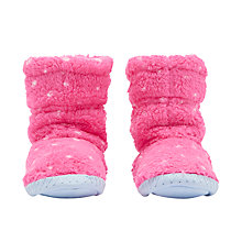 Buy Joules Children's Padabout Spots Slippers, Light Pink Online at johnlewis.com