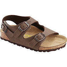 Buy Birkenstock Children's Roma Buckle Sandals, Mocca Online at johnlewis.com