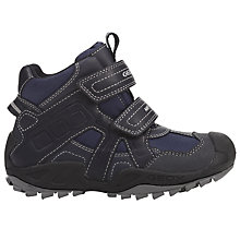 Buy Geox New Savage ABX Children's Shoes, Navy/Grey Online at johnlewis.com