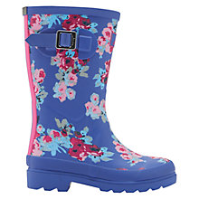 Buy Little Joule Children's Floral Print Wellington Boots, Navy Online at johnlewis.com