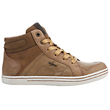 Buy Geox Children's Garcia C Leather Lace Boots, Brown Online at johnlewis.com