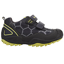 Buy Geox Children's Rip-Tape Savage Trainers, Navy/Lime Online at johnlewis.com