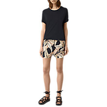 Buy AllSaints Avia Fuji Silk Shorts, Black Online at johnlewis.com