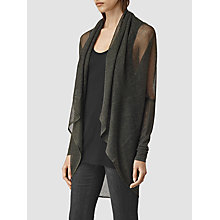 Buy AllSaints Itat Lev Shrug, Black Online at johnlewis.com