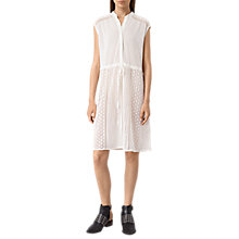 Buy AllSaints Elsa Waist Dress, Chalk White Online at johnlewis.com