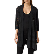 Buy AllSaints Sheer Cardigan, Cinder Black Marl Online at johnlewis.com