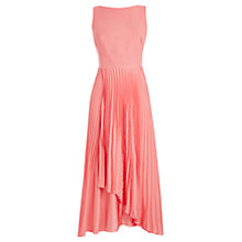 Buy Coast Jenza Pleat Wrap Dress, Coral Online at johnlewis.com
