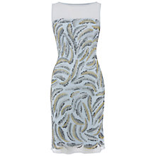 Buy Raishma Feather Beaded Dress, Ice Blue Online at johnlewis.com