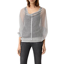 Buy AllSaints Elgar Lev Cowl Jumper, Light Grey Online at johnlewis.com