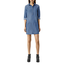 Buy AllSaints Ash Dress, Light Indigo Blue Online at johnlewis.com