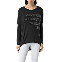 Buy AllSaints Louder Wave T-Shirt, Black Online at johnlewis.com