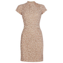 Buy Raishma High Neck Geometric Dress, Blush Online at johnlewis.com