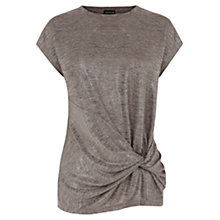 Buy Warehouse Twist Drape Metallic T-shirt Online at johnlewis.com