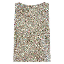 Buy Coast Milla Cowl Back Sequin Top, Green Online at johnlewis.com