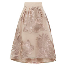 Buy Coast Bea Clipped Jacquard Skirt, Gold Online at johnlewis.com