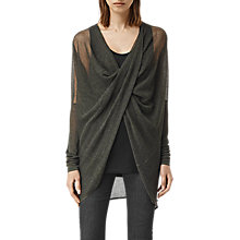 Buy AllSaints Itat Lev Shrug, Khaki Green Online at johnlewis.com