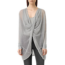 Buy AllSaints Itat Lev Shrug, Light Grey Online at johnlewis.com
