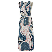 Buy Warehouse Cutabout Paisley Midi Dress, Multi Online at johnlewis.com