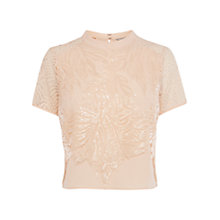 Buy Coast Ade Sequin Top, Oyster Online at johnlewis.com
