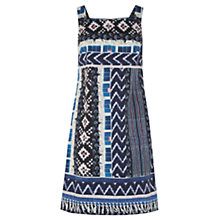 Buy Warehouse Patchwork Print Shift Dress, Navy Online at johnlewis.com