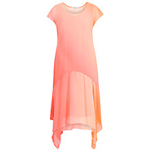 Buy Chesca Ombre Chiffon Dress, Orange/Coral Online at johnlewis.com