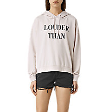 Buy AllSaints Louder Lo Hoodie, Oyster White Online at johnlewis.com